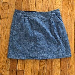 Loft blue blend skirt